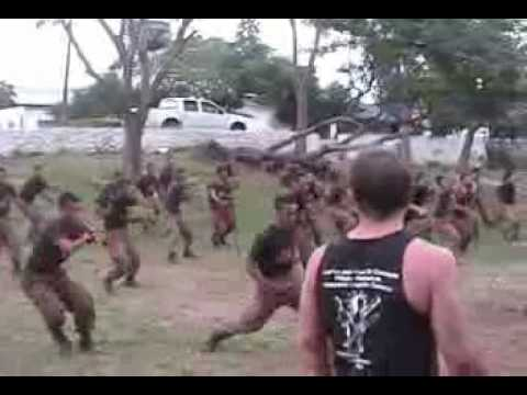 Philippine Special Action Force Commandos learning Kuntao