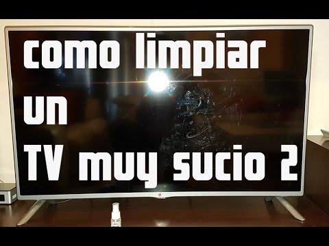 Como limpiar una pantalla de tv muy sucia con un producto - Como limpiar paredes blancas muy sucias ...