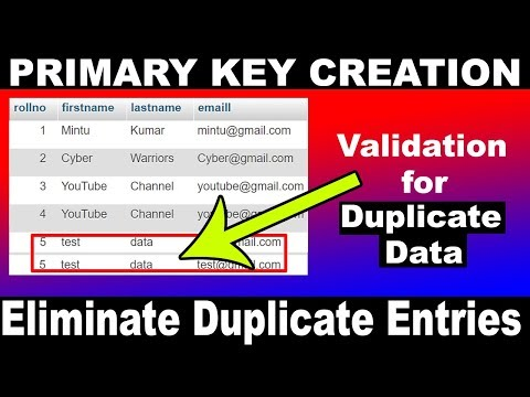 WordPress database error multiple primary key defined