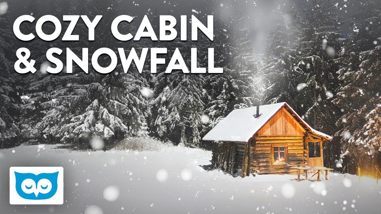 Snow Falling Video Wallpaper Cozy Cabin Fireplace Sounds And Falling Snow Youtube