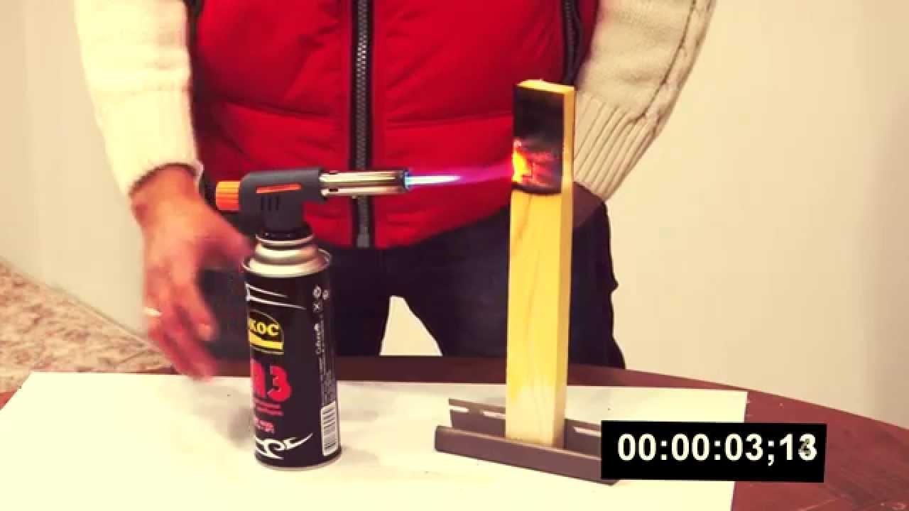 Огнебиозащита древесины. Эксперимент