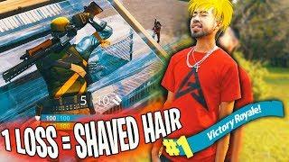1 LOSS = SHAVED HAIR (Fortnite Battle Royale Gameplay)   X7 Albert