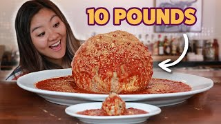 I Challenged My Friend To Finish A 10-Pound Meatball • Giant Food Time