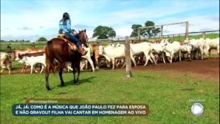 Filha de João Paulo cuida da fazenda herdada do pai