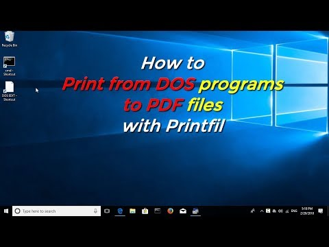 How to Print from DOS programs to PDF files