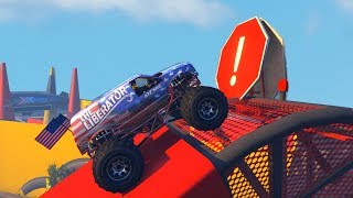 MONSTER TRUCK OBSTACLE COURSE! - GTA 5 Funny Moments #745