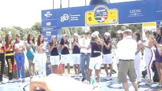 Petter Solberg dances and touches a mexican girl