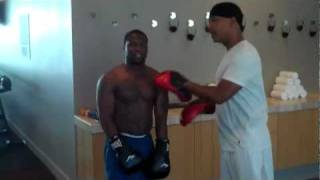 Kevin Hart as Money Mayweather _ Uncle Roger work the boxing mitts