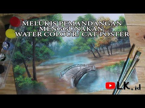 CARA MELUKIS PEMANDANGAN & JEMBATAN - YouTube