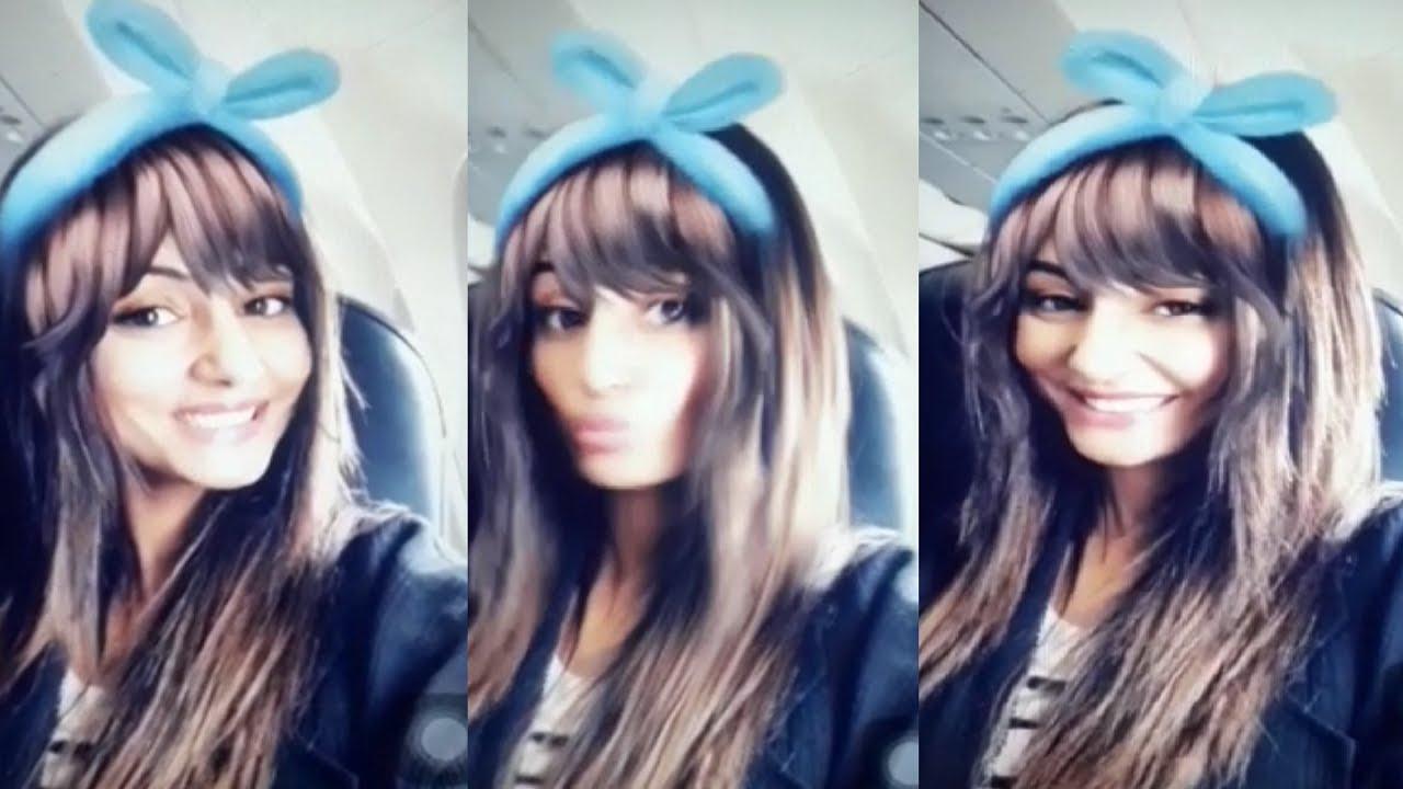 Hina Khan Cute Live Video Hina S Rabbit Look Hina Cute Video