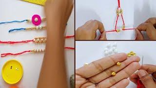 3 easy Rakhi making ideas with beads || Raakhi for Raksha-bhandan