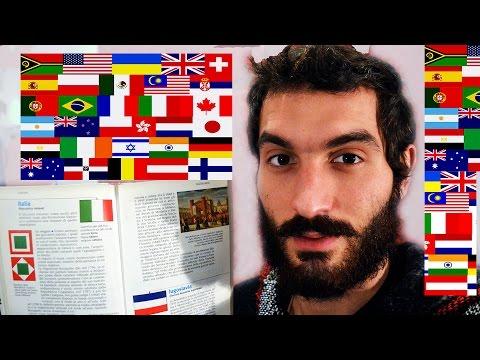 ASMR - Bandiere del Mondo 🌎 || Whispering || Tapping