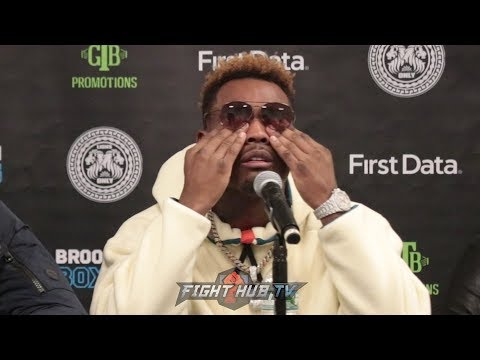 JERMELL CHARLO BREAKS DOWN AT POST FIGHT PRESS CONFERENCE AFTER LOSING TITLE TO TONY HARRISON