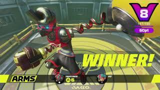 THE RAMEN BOMBER MIN MIN #パーティジャックトーナメント #ARMS #NintendoSwitch  戦う!ラーメン少女【ミェンミェン】