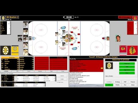 Action PC Hockey (Test) - Bruins 1969 vs Black Hawks 1969