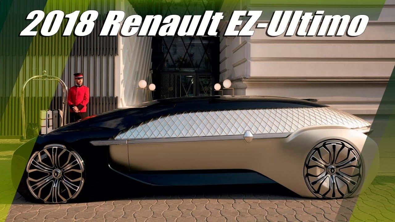 2018 Renault Ez Ultimo Concept Self Driving Luxury Lounge Youtube