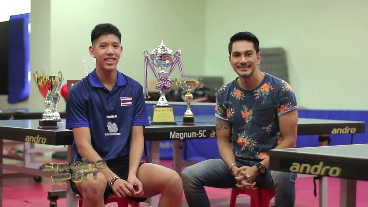 SinghaSport ญาณพงศ์ ดาวรุ่งกีฬาปิงปองทีมชาติไทย B3 O/A6/08/59 - YouTube