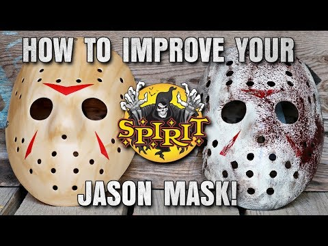 How To Improve Your $15 Spirit Halloween Jason Mask - Friday The 13th DIY