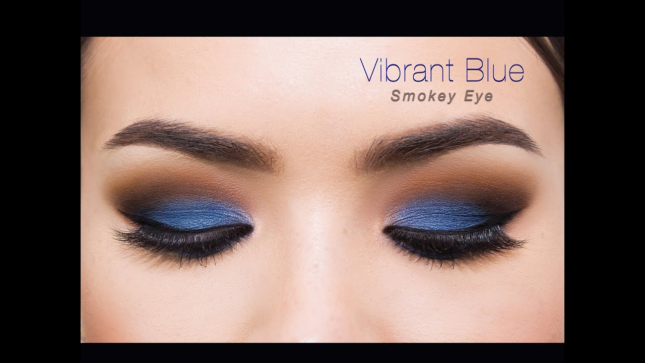 pop of color blue smokey eye youtube. Black Bedroom Furniture Sets. Home Design Ideas