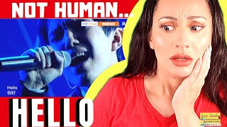 Cover images Vocal Coach REACTS to DIMASH Hello димаш 迪玛希reaction  Lucia Sinatra