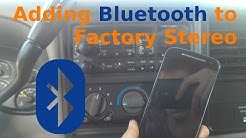 Adding Bluetooth to Factory Stereo on the Cheap