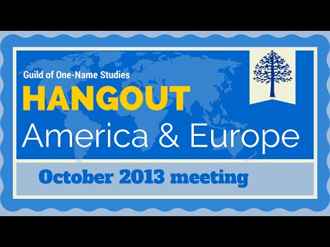 Europe & North America Guild hangout for October 2013