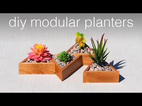 DIY Planter - Modern Succulent Planters | Woodworking