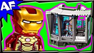 lEGO Iron Man Malibu Mansion Attack (Железный человек) stop motion build reviewОбзор ЛЕГО 76007