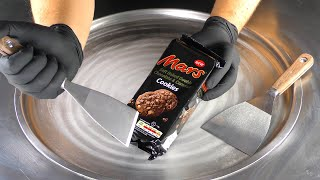 ASMR - Chocolate Caramel & Cookies Ice Cream Rolls | satisfying fried Mars Ice Cream - no talking