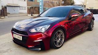 Showkingcar custom painting red candy X wide body