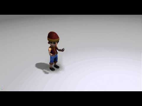 Oriental Boy Anims - Cartoon 3D Character