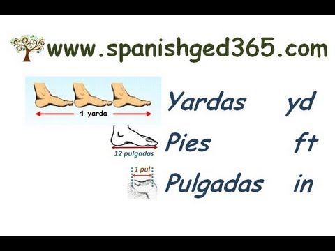 Yarda, pies y pulgadas - YouTube