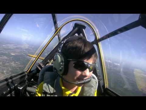 Nicholas T-6 Texan flight