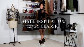 Style Inspiration: Edgy Classic