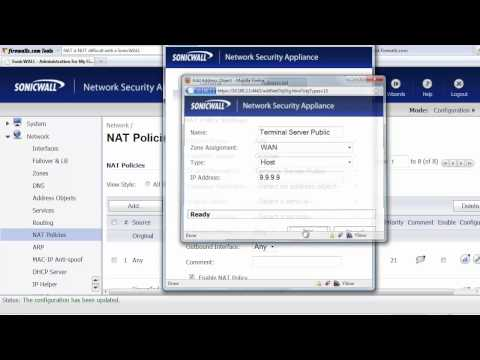 SonicWALL NAT Policy Settings Explained - YouTube