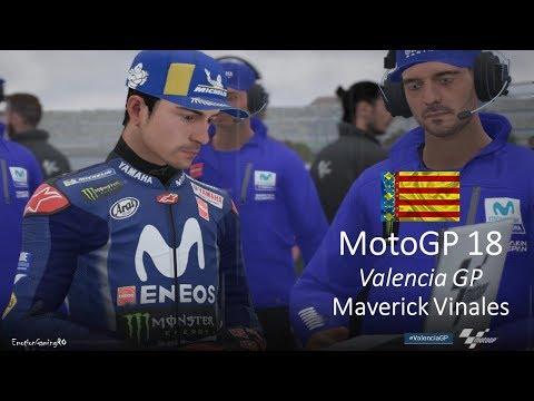 MotoGP 18 Gameplay - Valencia Grand Prix - Maverick VINALES (80% AI, Rain, PC) Mp3