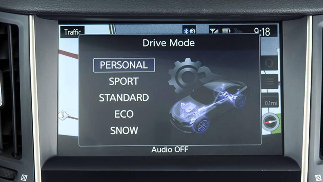 2014 Infiniti Q50 - Infiniti Drive Mode Selector - YouTube