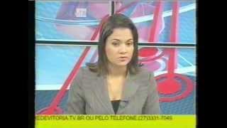 Jornal Local (na íntegra) - TV Vitória (Afiliada Record - Vitória, ES) - 2008 (SLP 480i)