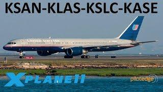 X-Plane 11 | Some Boeing Fun!! | KSAN-KLAS-KSLC-KASE | B757 B767 B737 | PilotEdge | Last week on PE!