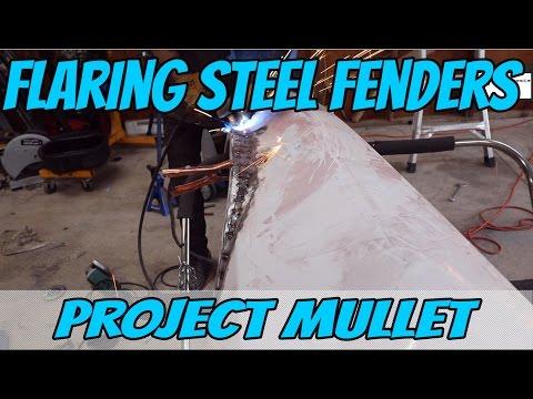 Making custom steel Fender Flares for the Camaro | Project Mullet Episode 1