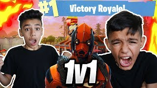 Fortnite 1v1 Against My Little Brother For *NEW* Vertex Skin! (RAGE)