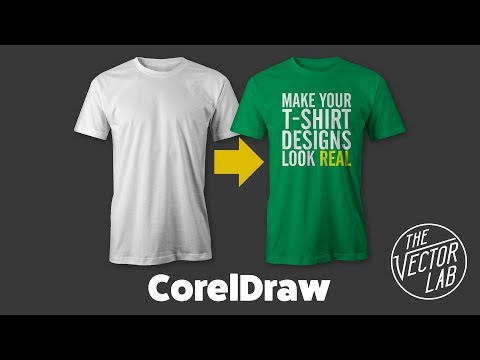 Tutorial Mock Up T Shirt Designs In Coreldraw With Thevectorlab