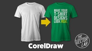 Tutorial: Mock Up T-Shirt Designs in CorelDraw with TheVectorLab Templates