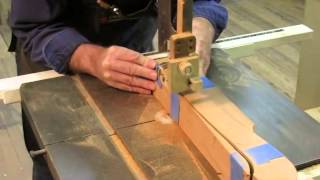 Curved Blockfront Dressing Table   Bandsawing Cabriolet Leg & Wrong Pattern Step 3