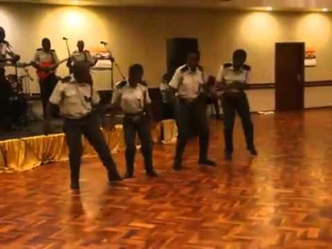 Zimbabwe prison services music group preforming live