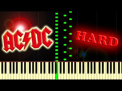 AC/DC - THUNDERSTRUCK - Piano Tutorial