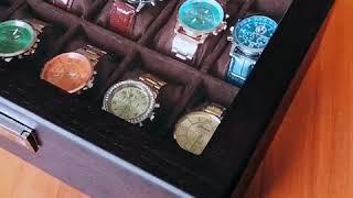 유럽 스타일 우드 가죽 시계 뷰티 각종 액세서리 수납 …