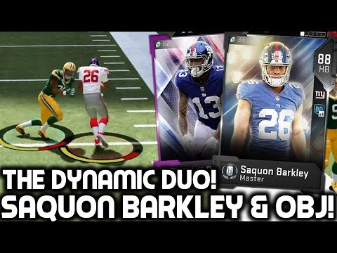 SAQUON BARKLEY & DIAMOND ODELL BECKHAM JR! THE DYNAMIC DUO! Madden 19 Ultimate Team