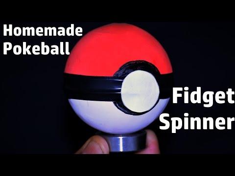 How to Make a POKEBALL Fidget Spinner | Easy & Simple Homemade Fidget spinner