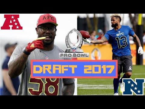NFL Pro Bowl Draft 2017 | Team Mitch vs Team Dylan